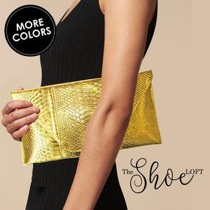 Classic 70s Python Clutch or Tablet Case